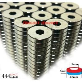 Çap 15mm X Del.Çapı 5mm X Kalınlık 3mm Neodymium Magnet