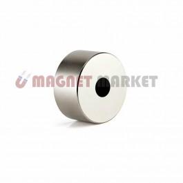 Çap 22mm X Del.Çapı 5mm X Kalınlık 10mm  Neodymium Magnet