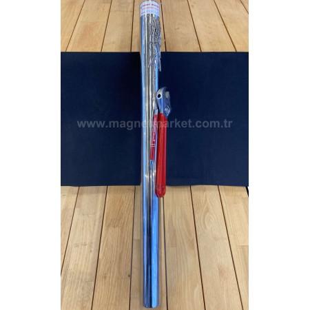Boy 700mm X Çap 50mm X Delik Metrik 8mm,Boru Neodymium Magnet