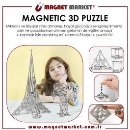 Magnetic 3d Puzzle   36 Ad. 5x25mm Neodyum - 36 Ad. Çelik Bilya