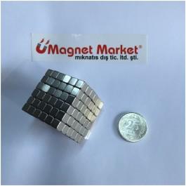 Boy 5mm X En 5mm X Kalınlık 5mm Neodymium Magnet