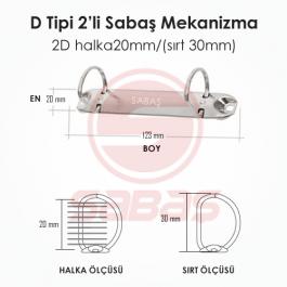 2D halka20mm/(sırt 30mm)