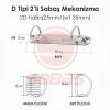 2D halka25mm/(sırt 35mm)