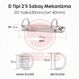 2D halka30mm/(sırt 40mm)
