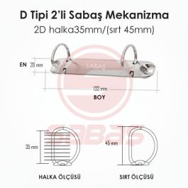 2D halka35mm/(sırt 45mm)