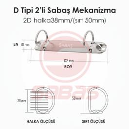 2D halka38mm/(sırt 50mm)