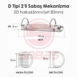 2D halka65mm/(sırt 83mm)
