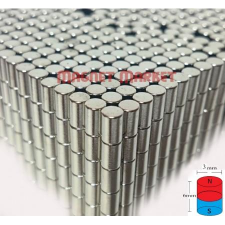 Çap 3mm X Kalınlık 6mm Neodyum Mıknatıs