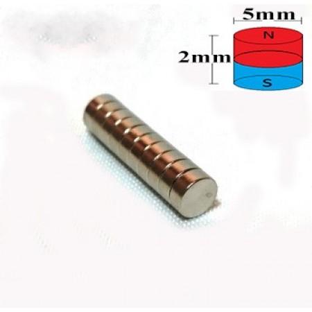 Çap 5mm X Kalınlık 2mm Neodyum Mıknatıs