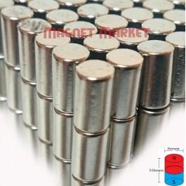 Çap 6mm X Kalınlık 10mm Neodyum Mıknatıs