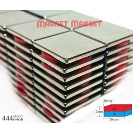 Boy 20mm X En 20mm X Kalınlık 2 mm Neodymium Magnet