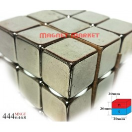 Boy 20mm X En 20mm X Kalınlık 20 mm Neodymium Magnet