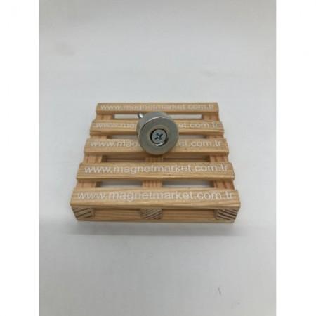 Çap 22mm X Delik çap 10/5,5 X Kalınlık 10mm Neodymium Magnet  (havşadelik)