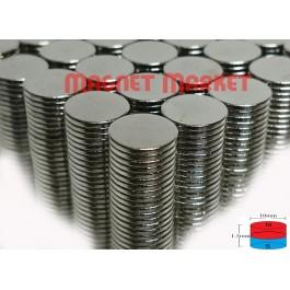Çap 10mm X Kalınlık 1.5mm Neodymium Magnet