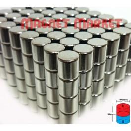 Çap 10mm X Kalınlık 10mm Neodymium Magnet