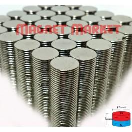 Çap 12mm X Kalınlık 1mm Neodymium Magnet