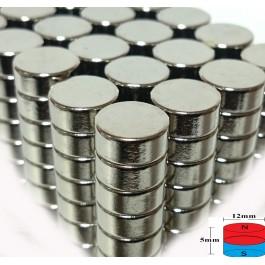 Çap 12mm X Kalınlık 6mm Neodymium Magnet