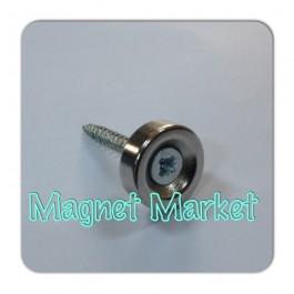 Çap 10mm X Delik çap 8/4 X Kalınlık 5mm Neodymium Magnet  (havşadelik)