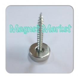 Çap 15mm X Delik çap 10/5,5 X Kalınlık 5mm Neodymium Magnet  (havşadelik)