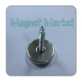 Çap 20mm X Delik çap 10/5,5 X Kalınlık 5mm Neodymium Magnet  (havşadelik)