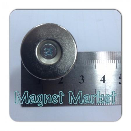 Çap 25mm X Delik çap 10/5,5 X Kalınlık 5mm Neodymium Magnet  (havşadelik)