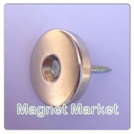 Çap 40mm X Delik çap10/5,5 X Kalınlık 6 mm Neodymium Magnet  (havşadelik)
