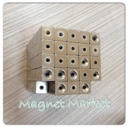 En 15mm X Boy 15mm X Delik çap 8/4 X Kalınlık 5 mm Neodymium Magnet  (havşadelik)
