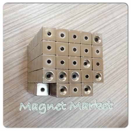 En 20mm X Boy 20mm X Delik çap 10/5,5 X Kalınlık 5 mm Neodymium Magnet  (havşadelik)
