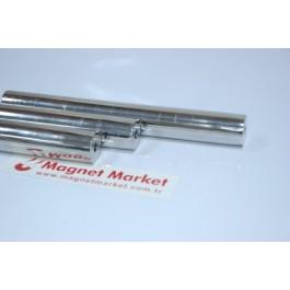 Boy 200mm X Çap 25mm X Delik Çapı 5mm,Boru Neodymium Magnet